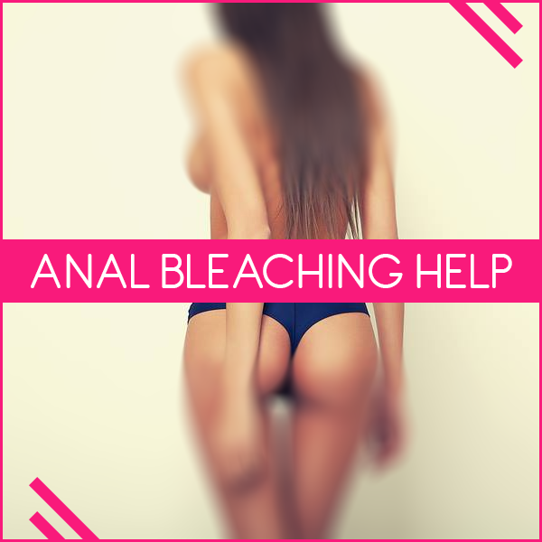 What is the purpose of anal bleaching